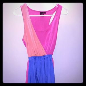 Material girl color block mini dress